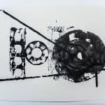 Disk, Bar, Triangle, 2012, Ink on Paper, 18 x 25cm