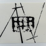 Diagonal Lines and Grid, 2012, Ink on Paper, 18 x 25cm