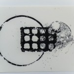 Circle and Grid, 2012, Ink on Paper, 18 x 25cm