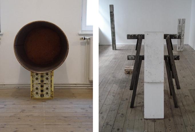 Eclipse and Ramp/Improvisationen-Berlin, 2009, Sheet Steel, Plastic and Wood, 80 x 60cm