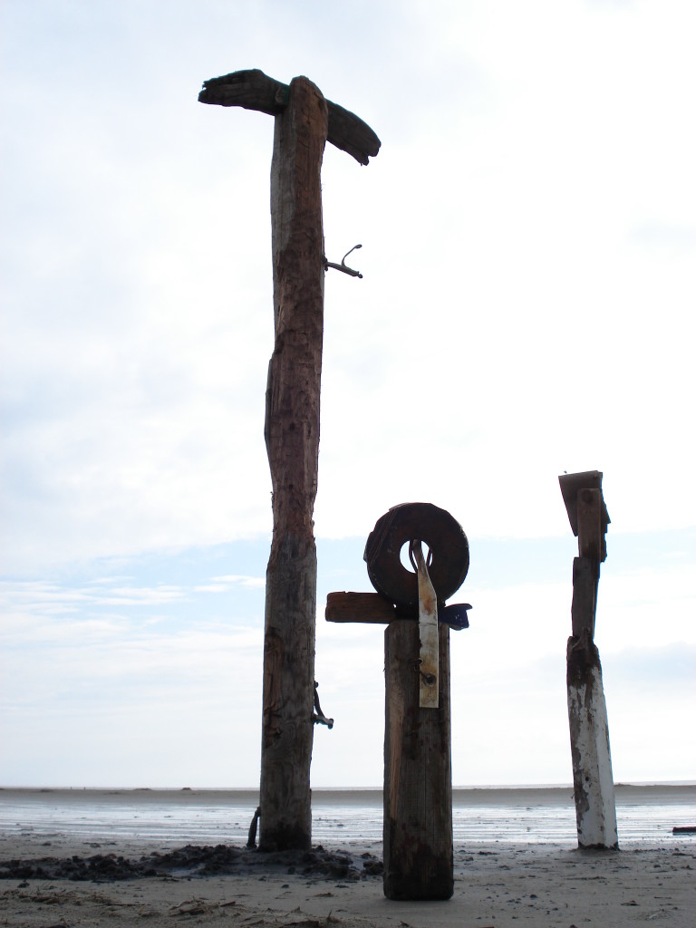 Figure Group I, 2006, Wood, Steel and Rubber, Height 1,2 - 2,4m