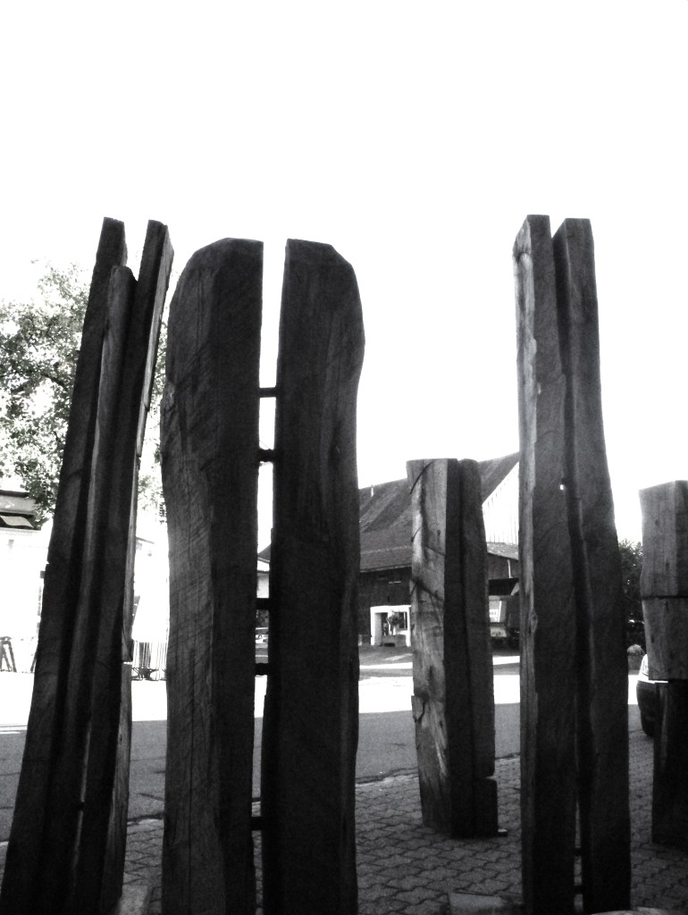 'Segregation and Unity', 2010, Wood and Steel, Height 1,2 - 2,4m