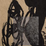 Figure and Shadow I, 2004, Mixed Media on Paper, 7,5 x 9,5cm