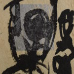 Figure and Reflection I, 2004, Mixed Media on Paper, 7,5 x 9,5cm