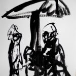 Figure Group I, 2011, Ink on Paper, 24 x 32cm