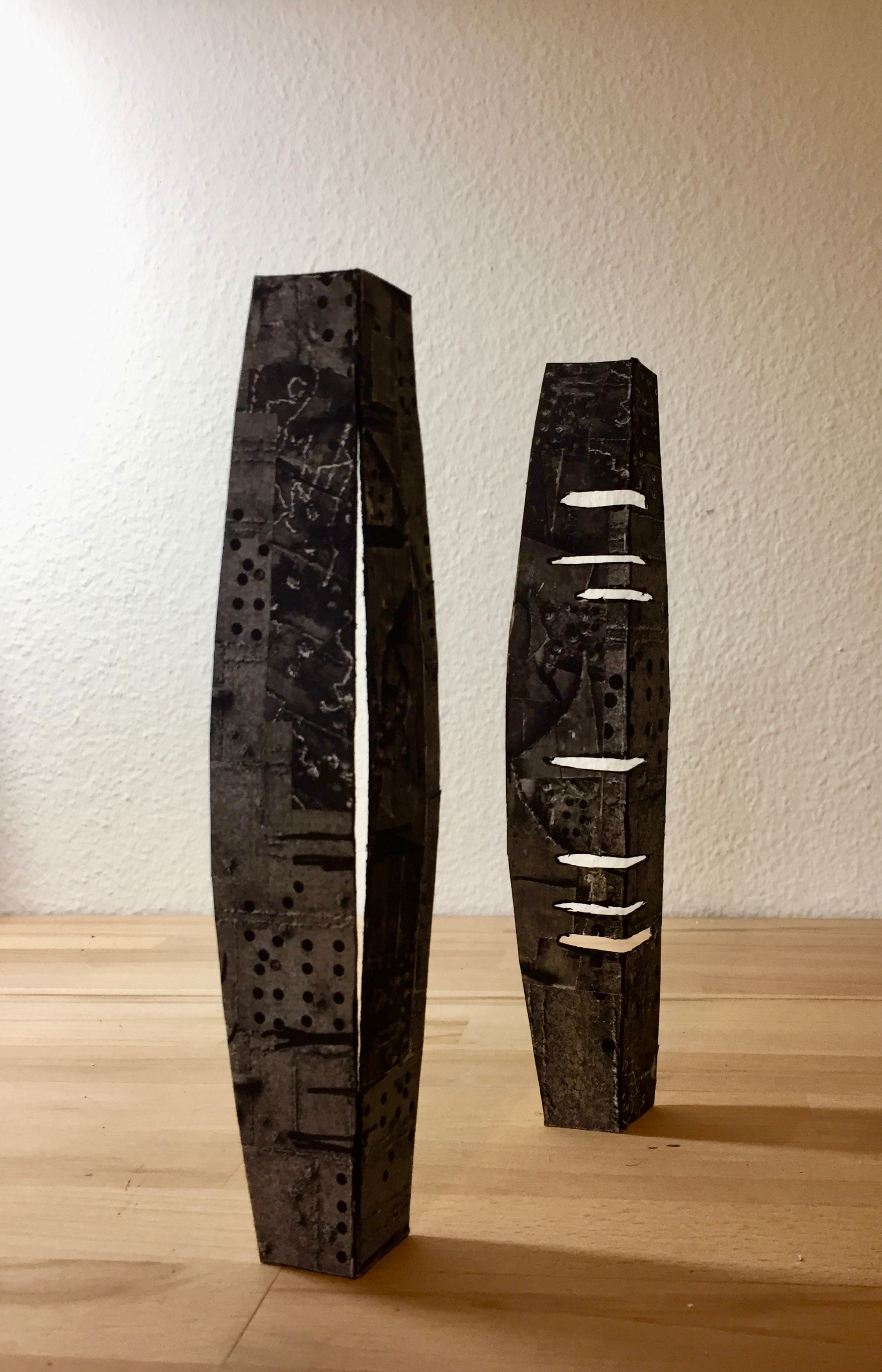 Figure 1 and 2, 2018, (Draft- Sheet Steel , Height 170cm)