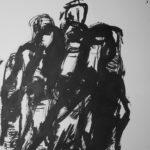 Hands 13, 2017, Ink on Paper, 42 x 29,5cm