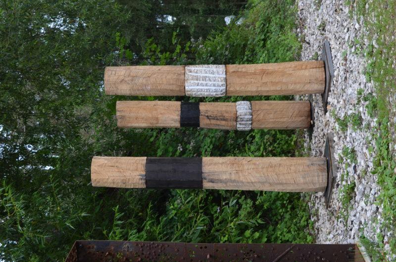 Untitled 2020, Peccia Marble, Steel, Oak, Height 190cm